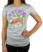 NEW NWT LEVI'S WOMEN'S PREMIUM CLASSIC GRAPHIC COTTON T-SHIRT SHIRT TEE GRAY