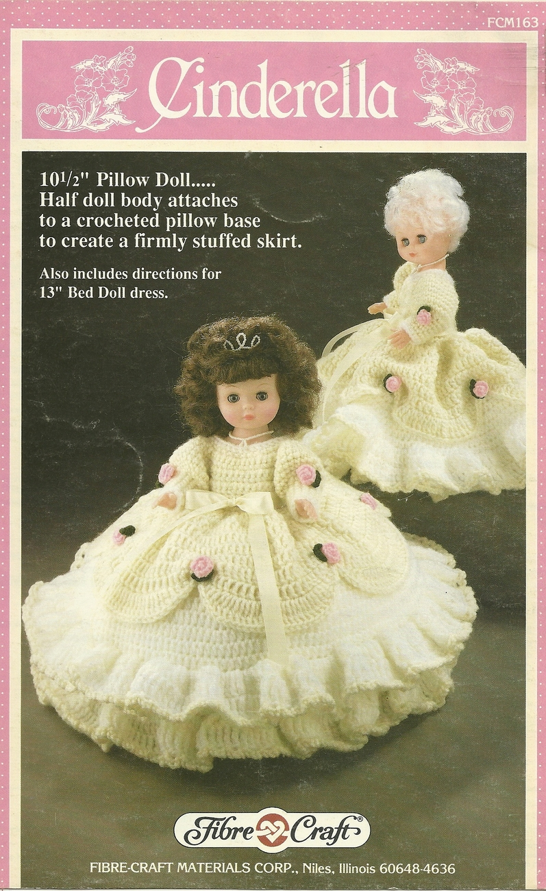 "Primary image for Fibre Craft Cinderella Crochet Pattern for 10.5"" Pillow Doll Crochet Pattern"