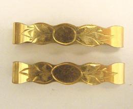 ANTIQUE GOLD TOP LINGERIE CLIP PINS - $20.00