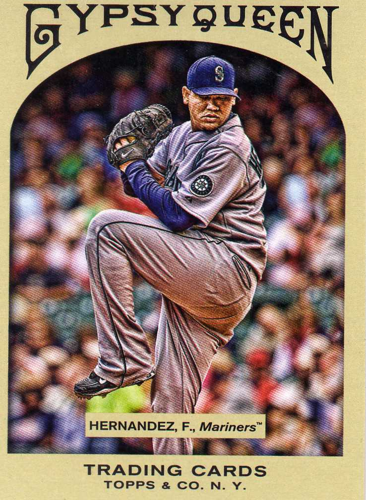 2011 Topps Gypsy Queen Felix Hernandez Seattle Mariners