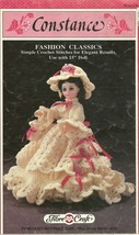 "FIBRE CRAFT CROCHET~""CONSTANCE""~15"" DOLL  DRESS CROCHET PATTERN - $19.99"