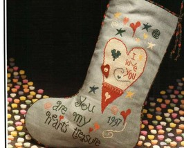 Valentine Stocking cross stitch chart Heart in Hand - $4.00