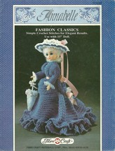 "FIBRE CRAFT CROCHET~""ANNABELLE""~15"" DOLL DRESS CROCHET PATTERN  - $19.99"