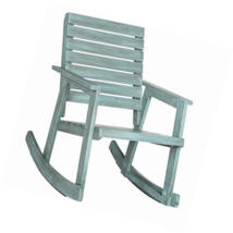 Safavieh Outdoor Collection Alexei Beach House Blue Rocking Chair - $160.57