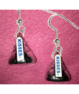 Funky Chocolate KISS EARRINGS-Realistic Candy Kisses Food Charm Costume ... - $12.97