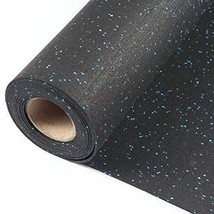 Hefty Mat Rubber Flooring Sheet with Blue Granule for Gym,Home Gym,Hotel... - $148.29