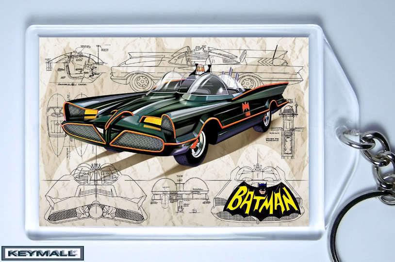 KEYTAG 66 BATMOBILE BATMAN AND ROBIN G BARRIS KEY CHAIN