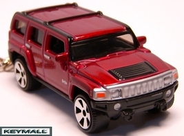 KEY CHAIN 2003~2011 VICTORY RED HUMMER H3 HUMVEE RARE!! - $39.95