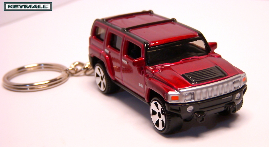 KEY CHAIN 2003~2011 VICTORY RED HUMMER H3 HUMVEE RARE!!