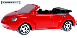 RED VW NEW BEETLE BUG VOLKSWAGEN CONVERTIBLE KE... - $24.98