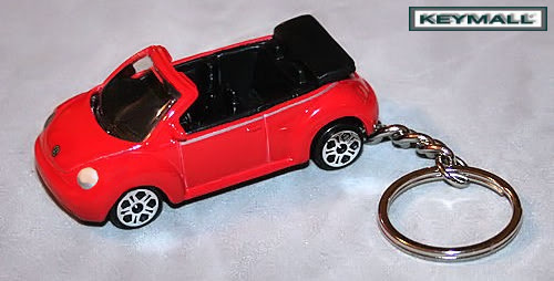 RED VW NEW BEETLE BUG VOLKSWAGEN CONVERTIBLE KEY CHAIN