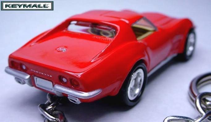 KEY CHAIN 1969/1970/1971 RED CHEVY 69/70/71 CORVETTE C3