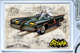 KEY CHAIN BATMAN & ROBIN 66 G BARRIS BATMOBILE KEYTAG - $9.95