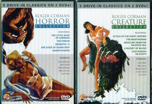 ROGER CORMAN Classic 10 Creature-Horror Films NEW 4 DVD