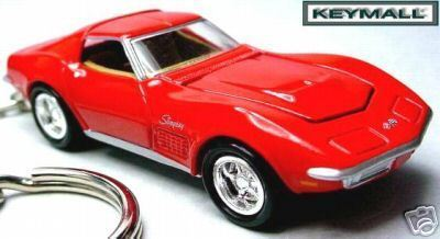 KEYCHAIN RED CHEVY 69~70 CHEVROLET CORVETTE STINGRAY C3