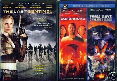 SCI-FI: Sentinel- Supernova- Final Days Earth NEW 2 DVD