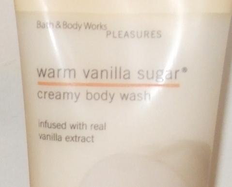 Bath and Body Works New Warm Vanilla Sugar Body Wash 8 oz