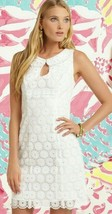 Lilly Pulitzer Nicci White Organza Pinwheel Pearlescent Embroidery Sheat... - $148.50