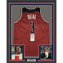 FRAMED Autographed/Signed BRADLEY BEAL 33x42 Washington Red Jersey JSA C... - $424.99