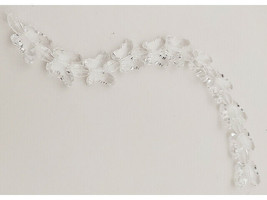 Acrylic Clear Butterfly and Oval Beads, 12 Inches