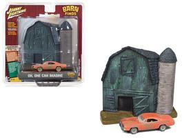 1969 Dodge Charger Orange (Unrestored) Barn Finds Resin Facade Diorama D... - $33.58