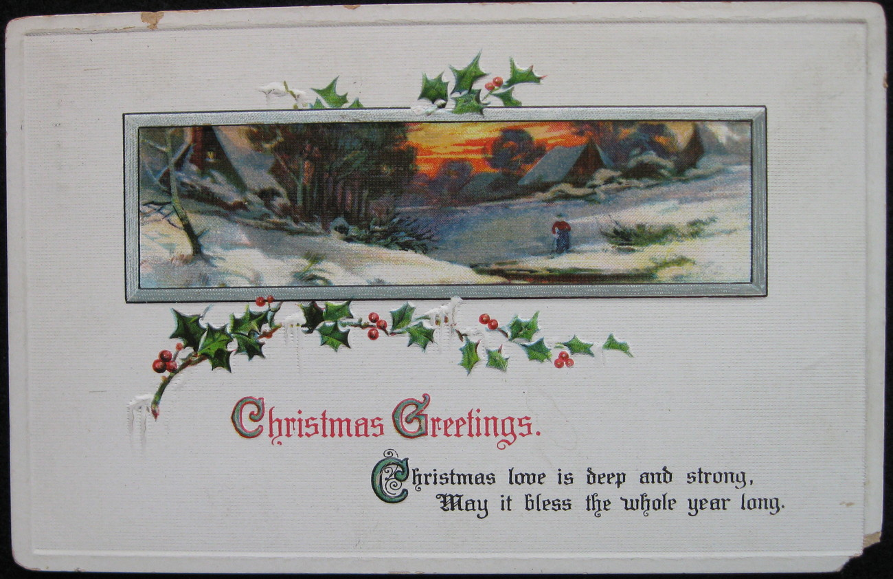 Primary image for Sam Gabriel, Early Divided-back, Embossed, Christmas Postcard, Christmas Greetin