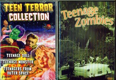 TEENAGE TERROR Doll-Monster-Outer Space-Zombie NEW 4DVD