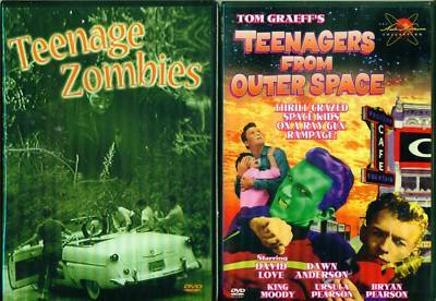 TEENAGE ZOMBIES & Teenagers from Outer Space NEW 2 DVD