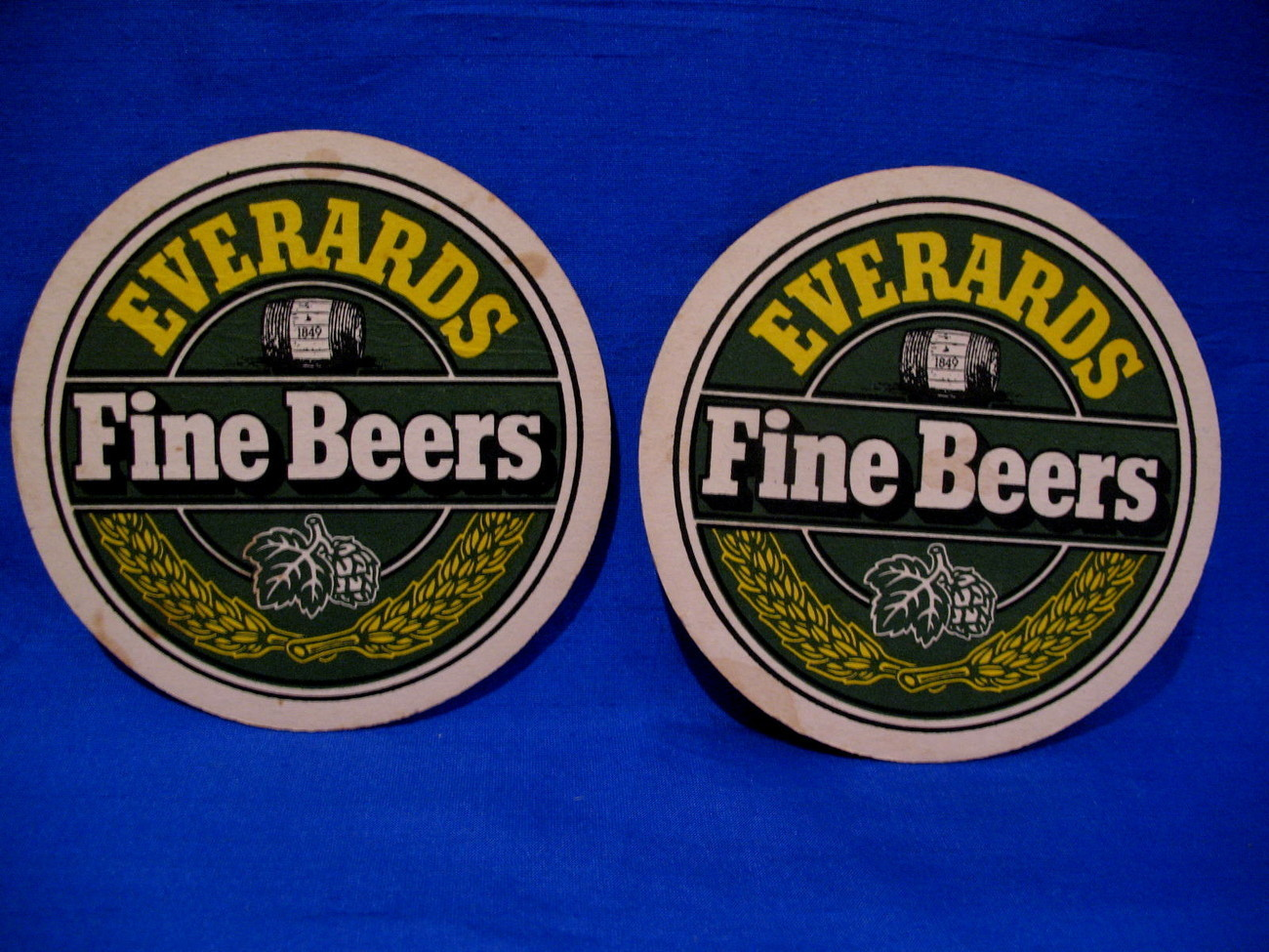 Everards Fine Beer Coasters Vintage UK. Souvenir set of 2