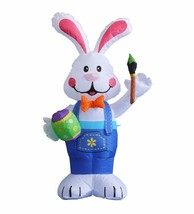 Easter Inflatable Rabbit Bunny Egg Paintbrush Lawn Indoor Outdoor Decora... - $49.00