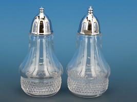 Vintage Duncan & Miller Teardrop Crystal Salt & Pepper Shakers image 1