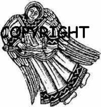 Angel Playing Dulcimer New Mounted Rubber Stamp - $5.10