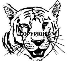White Tiger Face New Mounted Rubber Stamp - $7.65