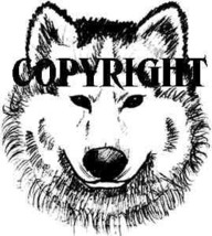 Wolf Face Sketch New Mounted Rubber Stamp - $7.65
