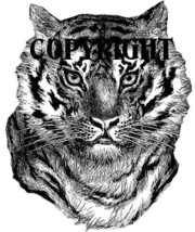 Tiger Face New Mounted Rubber Stamp - $7.65