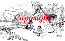 Native American Tipi New Mounted Rubber Stamp - $8.50
