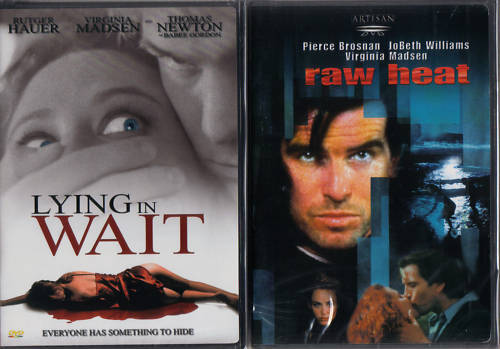 VIRGINIA MADSEN : Lying in Wait & Raw Heat - NEW 2 DVD