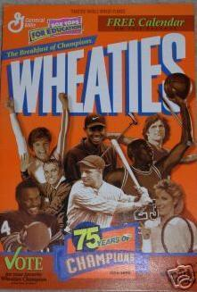 WHEATIES 1999 Calendar: 75 Years/Tiger Woods/More - NEW