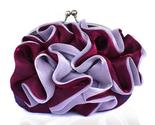 Clutch bag silk ruffle bloom burgundy thumb155 crop