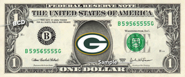 Green Bay Packers on a REAL Dollar Bill NFL Football Cash Money Collecti... - $8.88