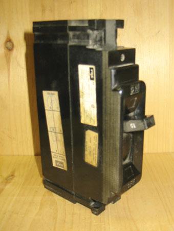 FPE NEF311015 15 AMP 1 POLE 346 VOLT THERMAL MAGNETIC CIRCUIT BREAKER ~ RARE!