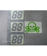 DALE EARNHARDT JR  #88 BLACK &  GREEN SKULL & BONES TEST CAR DECALS 1/24TH  - $2.99
