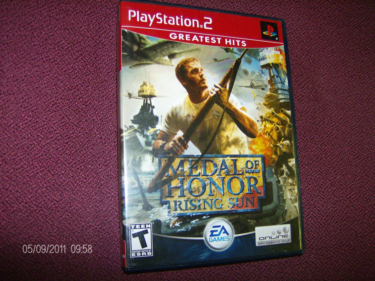 PS2 VINTAGE GAME-MEDAL OF HONOR RISING SUN -COMPLETE IN CASE