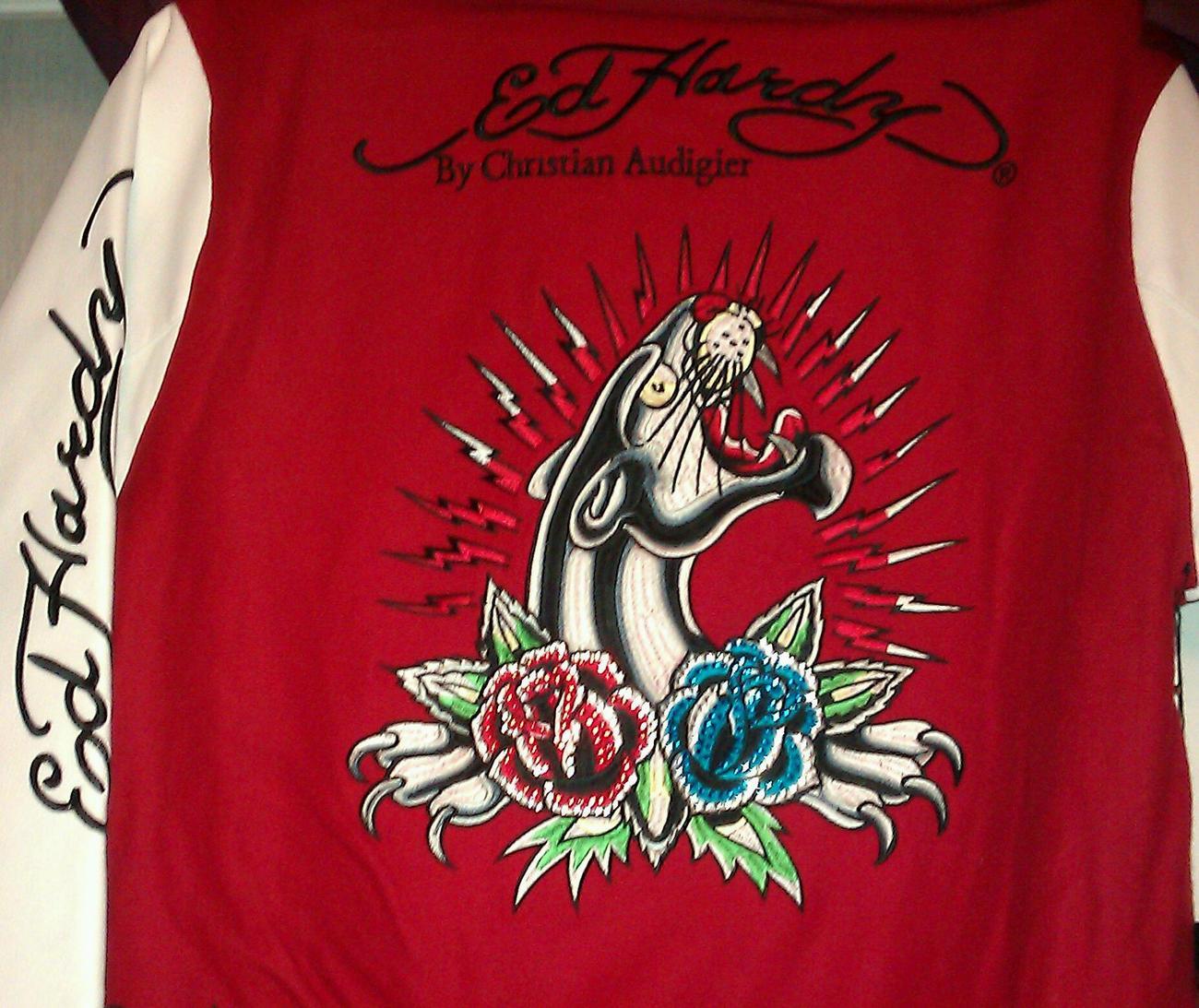 Ed Hardy Panther Rose Women's Jacket NWT EHOW-7048
