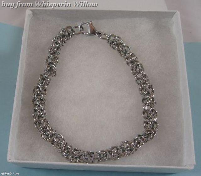 "9"" Stainless Steel Byzantine Chain Bracelet"
