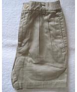 Genuine Cottons Brand Boys Khaki Pleated Shorts... - $7.00