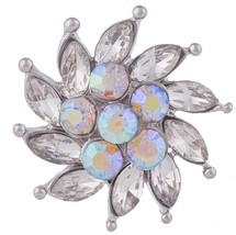 Silver Opal Rhinestone Windmill 20mm Snap Charm for Ginger Snaps Magnoli... - $6.95