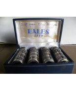 Salt And Pepper Set Cobalt Chrome W Box Vintage - $10.00