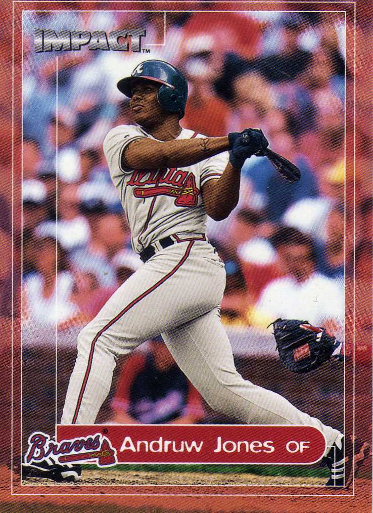 2000 Fleer Impact Andruw Jones Atlanta Braves Yankees