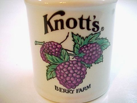 Vintage Knott's Berry Farm Milk Can Shaped Toothpick Holder